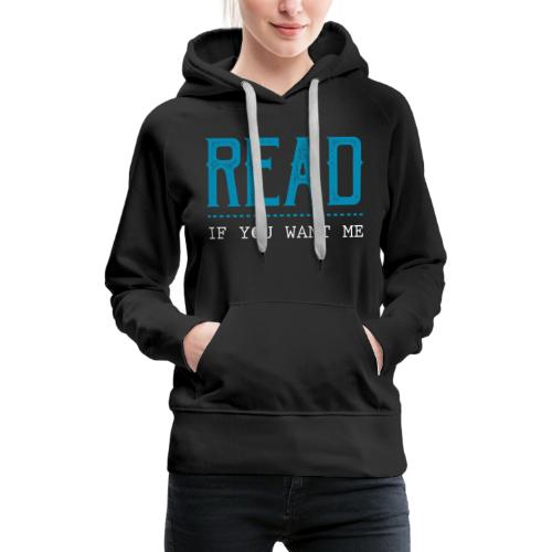 0047 reading | Desire | Eroticism | Book | bookworm - Women's Premium Hoodie