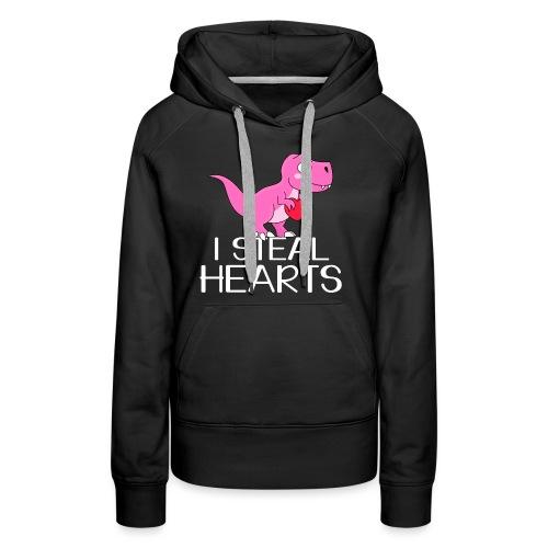 I steal hearts T-Rex - Frauen Premium Hoodie