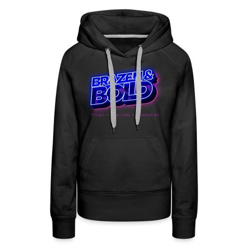 Brazen & Bold Productions Neon Logo - Women's Premium Hoodie