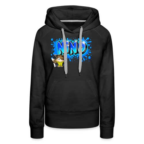 nino Graffiti name printable free - Sweat-shirt à capuche Premium pour femmes