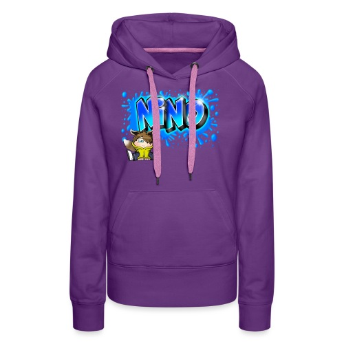 nino Graffiti name printable free - Sweat-shirt à capuche Premium pour femmes