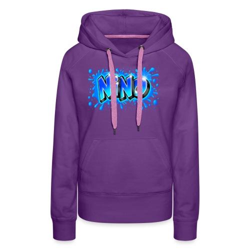 Graffiti NINO splash blue - Sweat-shirt à capuche Premium pour femmes