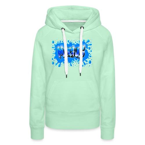 Graffiti Marius Splash - Sweat-shirt à capuche Premium pour femmes