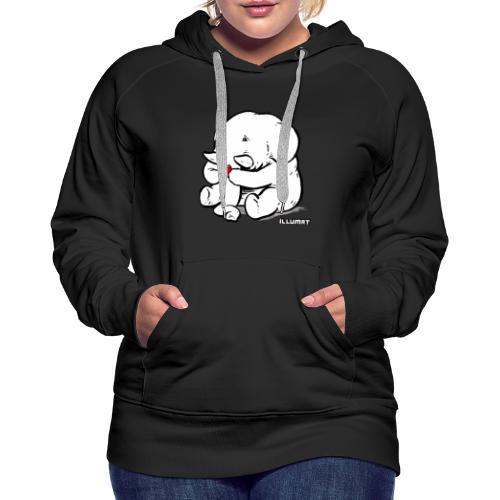 Stef 0002 00 Lesefant - Frauen Premium Hoodie
