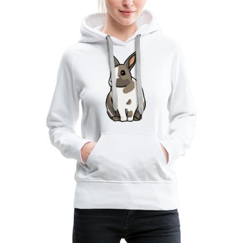 Hase, Kaninchen, Zwergkaninchen, Comic, süß - Frauen Premium Hoodie