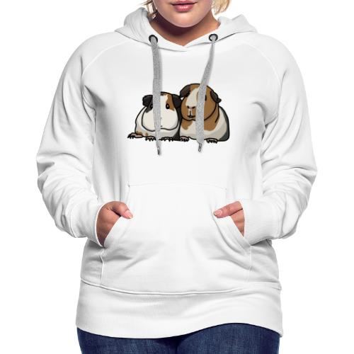 Zwei Meerschweinchen, süß, Comic - Frauen Premium Hoodie