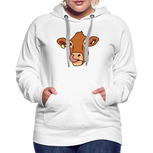 Kuh, Rind, Kopf, Comic, Geschenkidee - Frauen Premium Hoodie
