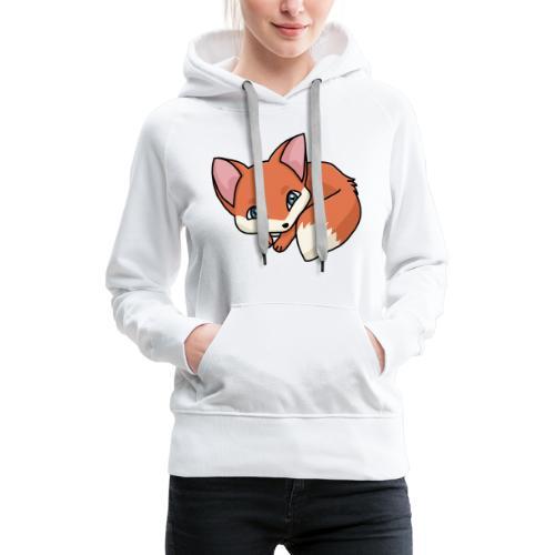 Fuchs, Fuchswelpe, Rotfuchs, Comic, süß - Frauen Premium Hoodie
