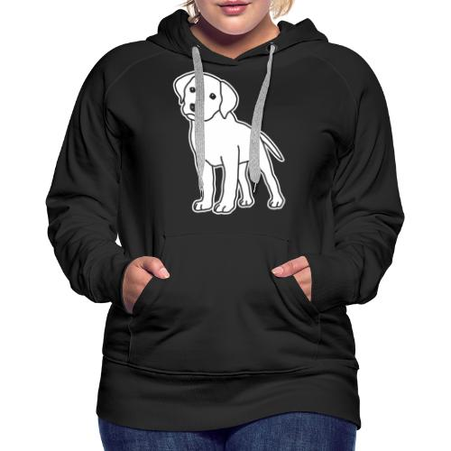 Labrador, Retriever, Hund, Comic, Welpe, süß - Frauen Premium Hoodie