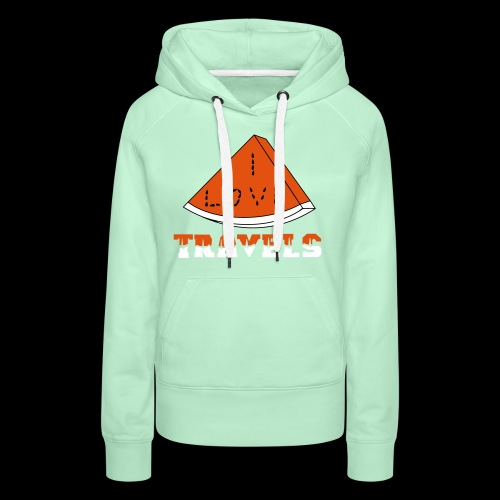 I LOVE TRAVELS FRUITS for life - Women's Premium Hoodie