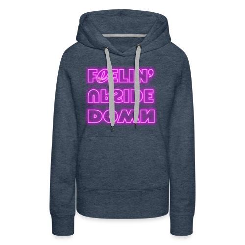 FeelinUpsideDown Neon - Felpa con cappuccio premium da donna