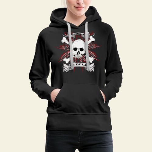 skull - Dame Premium hættetrøje