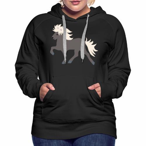 Windfarbenes Islandpferd - Frauen Premium Hoodie
