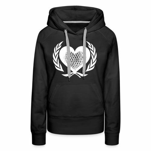 Herz Kranz Gitter Netz Logo Emblem Geschenkidee - Frauen Premium Hoodie