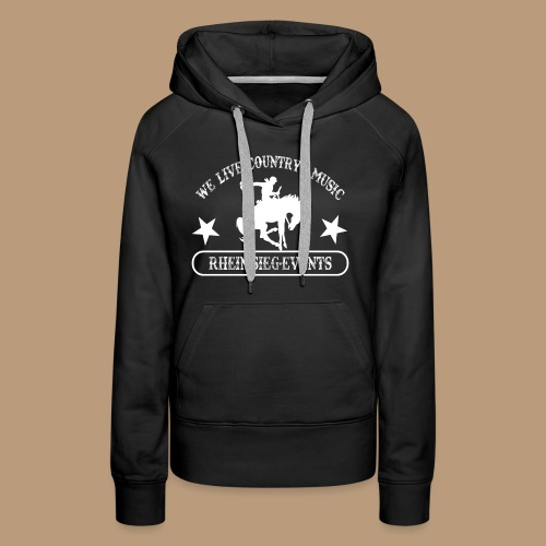 2We_live_Country_Music.png - Frauen Premium Hoodie