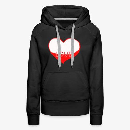 Love1 - Sudadera con capucha premium para mujer