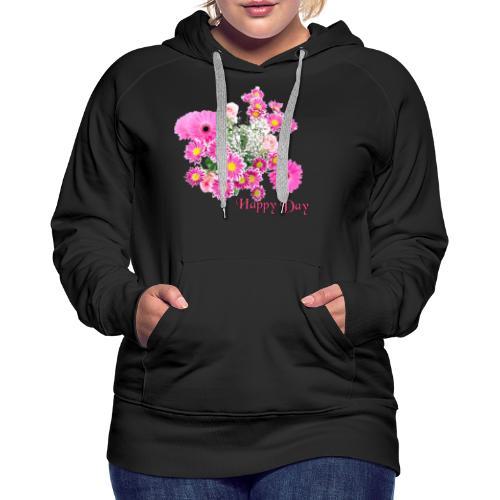 Happy Day Blumen - Frauen Premium Hoodie