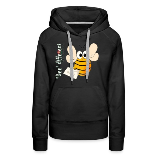 BEE DIFFERENT3 - Sweat-shirt à capuche Premium pour femmes