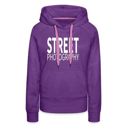 Street Photography T Shirt - Felpa con cappuccio premium da donna