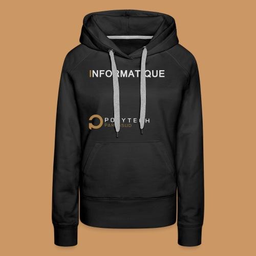 Motif Polytech jog info - Sweat-shirt à capuche Premium pour femmes