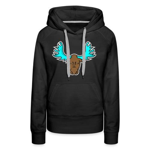Albert the Moose Coffee Cup - Women's Premium Hoodie