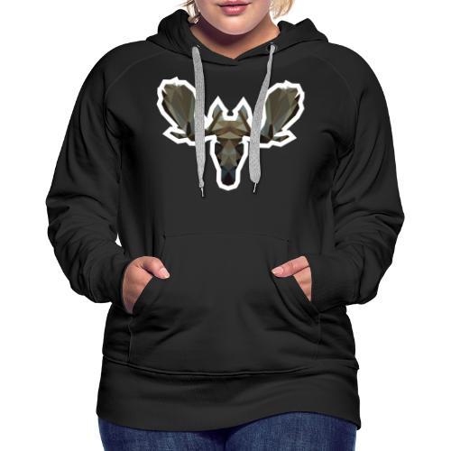 Low Poly Moosehead - Vrouwen Premium hoodie