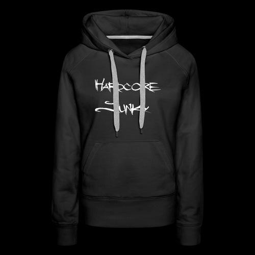 Hardcore Junky white - Frauen Premium Hoodie
