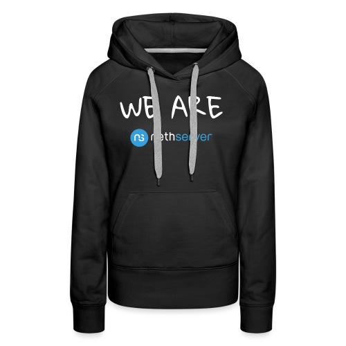 white-blue-rectangular - Women's Premium Hoodie