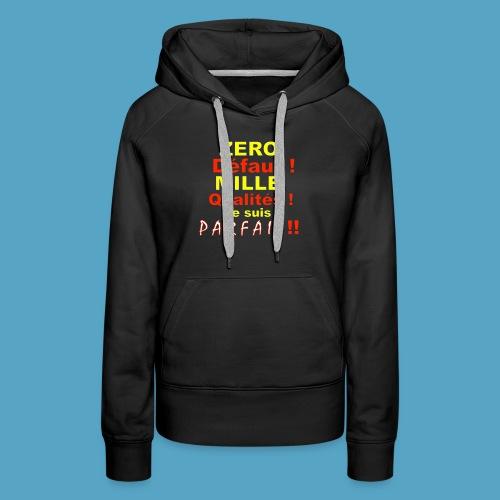 ZERO DEF PHOT .png - Sweat-shirt à capuche Premium pour femmes