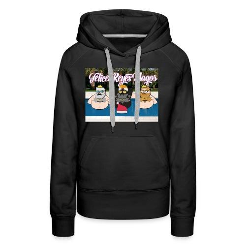 Felices Reyes Magos - Sudadera con capucha premium para mujer