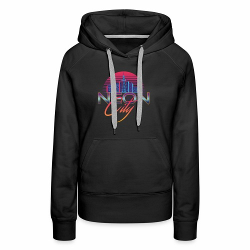 Neon City Retro Wave - 80's Aesthethics - Vrouwen Premium hoodie