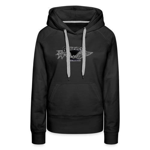 Dämon / Mensch - Schwarz - Frauen Premium Hoodie