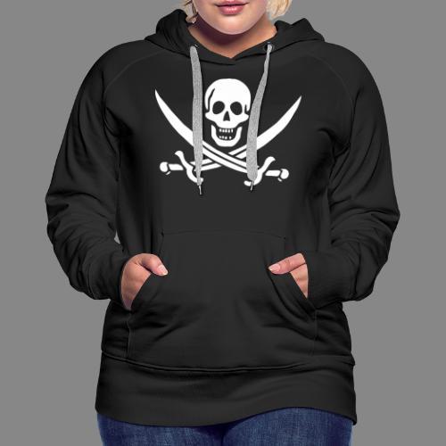 Jack Rackham Flag - Sweat-shirt à capuche Premium pour femmes