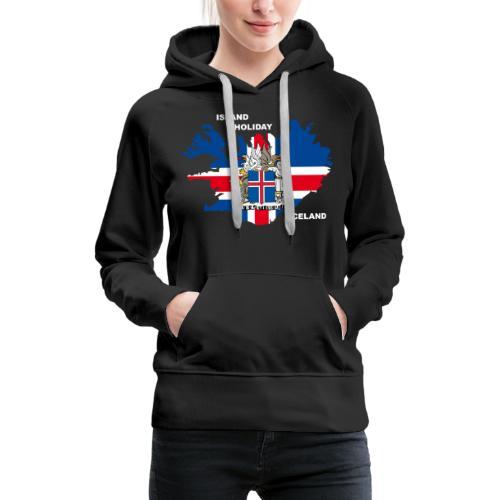 Island Iceland Holiday Urlaub - Frauen Premium Hoodie