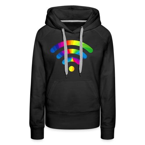 wifi signal rainbow - Vrouwen Premium hoodie