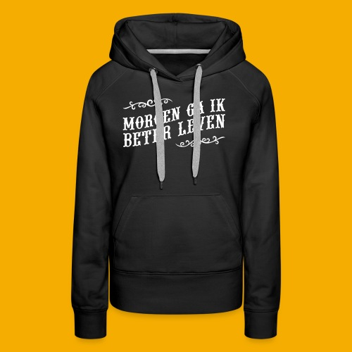 tshirt wht 01 png - Vrouwen Premium hoodie