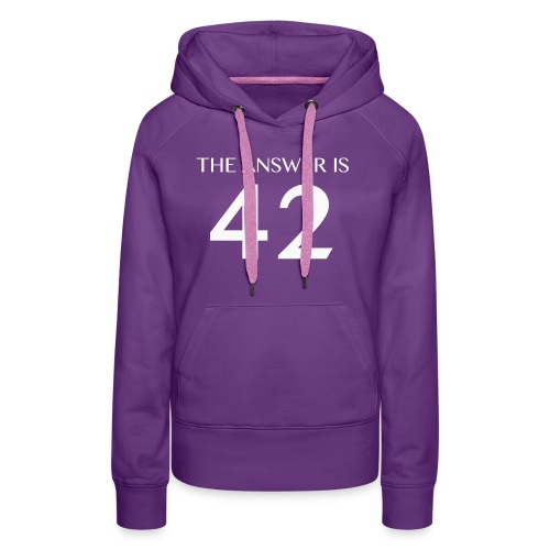 The Answer is 42 White - Women's Premium Hoodie