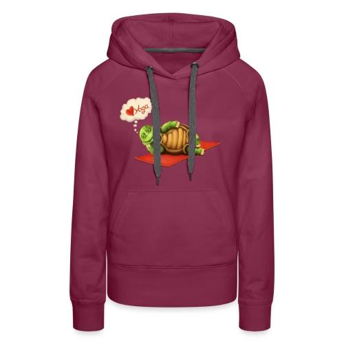 Love-Yoga Turtle - Frauen Premium Hoodie