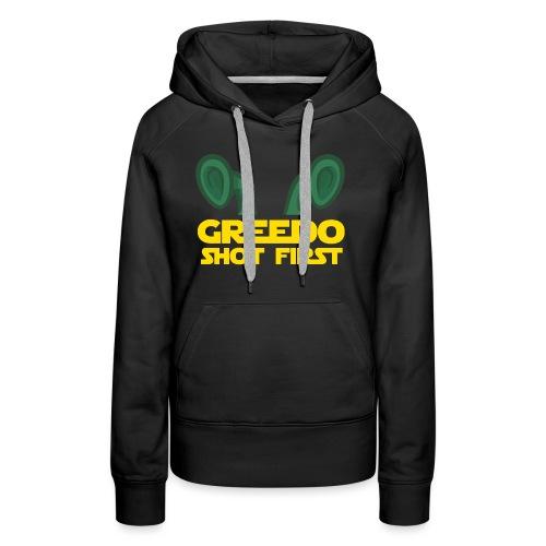 GreedoShotFirst 02 - Vrouwen Premium hoodie
