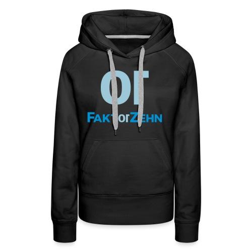 FaktorZehn_Logo_neu2 - Frauen Premium Hoodie