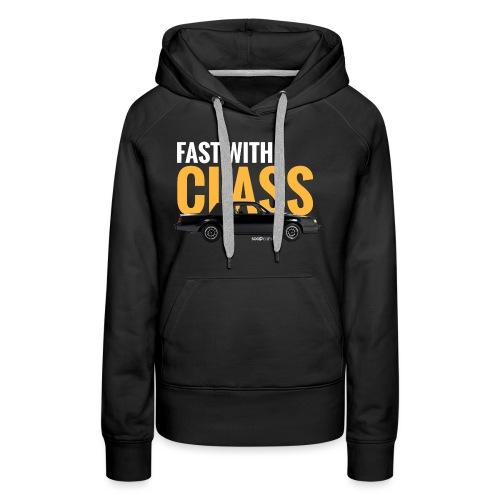 Fast with class* - Sweat-shirt à capuche Premium pour femmes