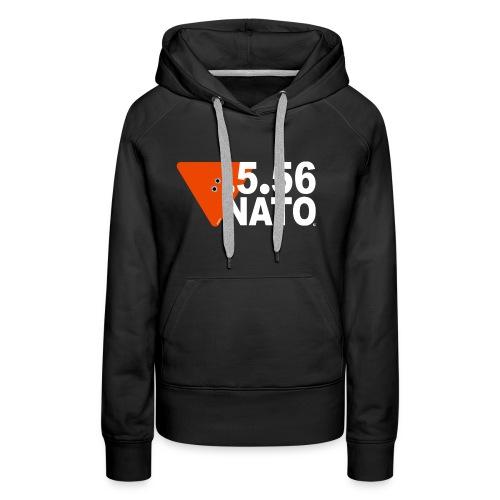 .5.56 NATO BLANC - Sweat-shirt à capuche Premium pour femmes