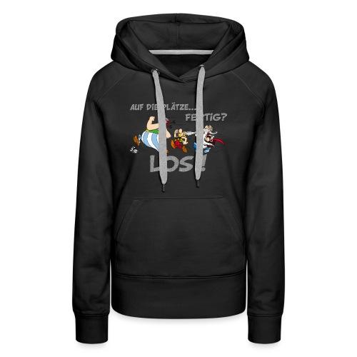 Asterix Obelix Auf die Plätze... Fertig? Los! - Sweat-shirt à capuche Premium pour femmes