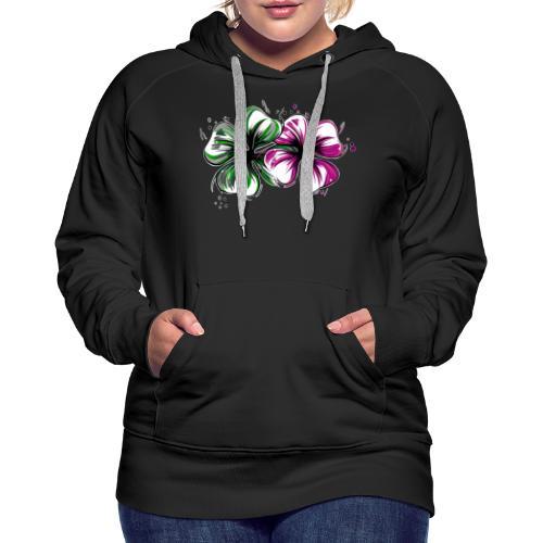 Trèfles - Sweat-shirt à capuche Premium pour femmes