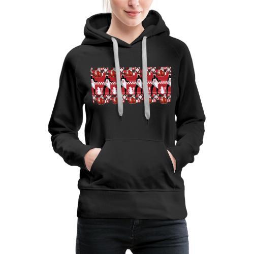 Motif Noël J'ai les boules (sans texte) - Sweat-shirt à capuche Premium pour femmes