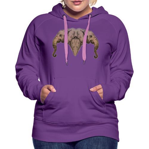 Elephants - Sweat-shirt à capuche Premium pour femmes
