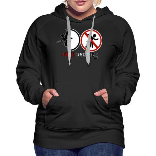 Fais pas chier - Fée pas chier - Sweat-shirt à capuche Premium pour femmes