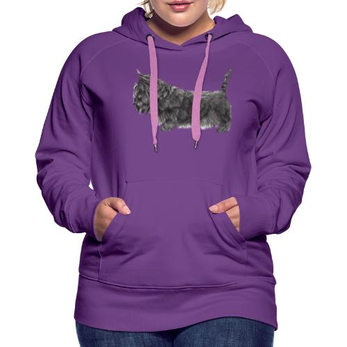 skotsk terrier ub - Dame Premium hættetrøje