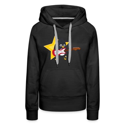 Pingouin Guitariste - Sweat-shirt à capuche Premium pour femmes