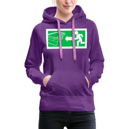 "Billard Shirt ""Notausgang Billard"" - Pool Billard - Frauen Premium Hoodie"